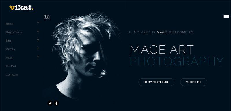 Photographer personal branding WordPress theme