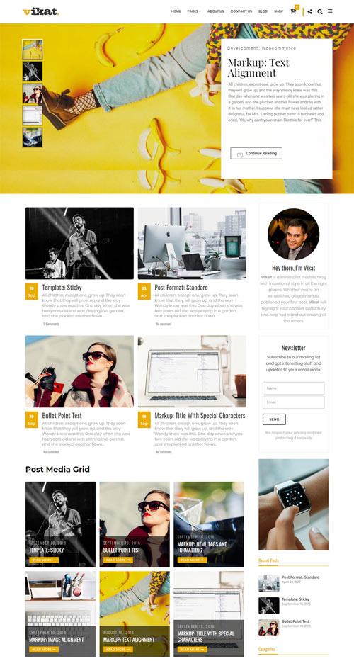 MEDH Minimalist WordPress Theme