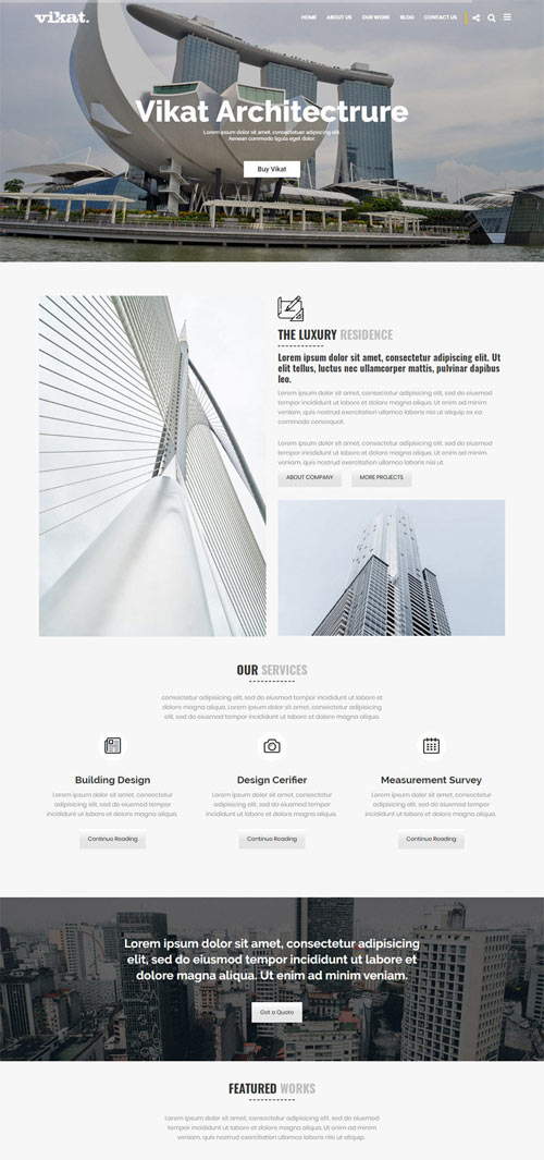 VARMINE Architecture WordPress Theme