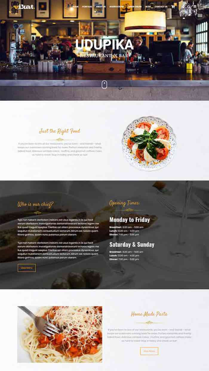 Restaurant WordPress Theme - Amala