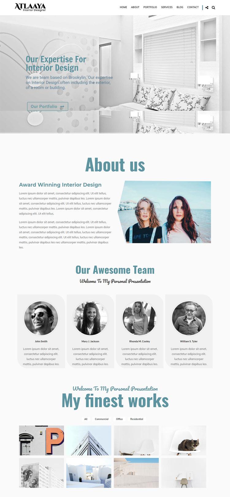 Interior Designer WordPress Theme