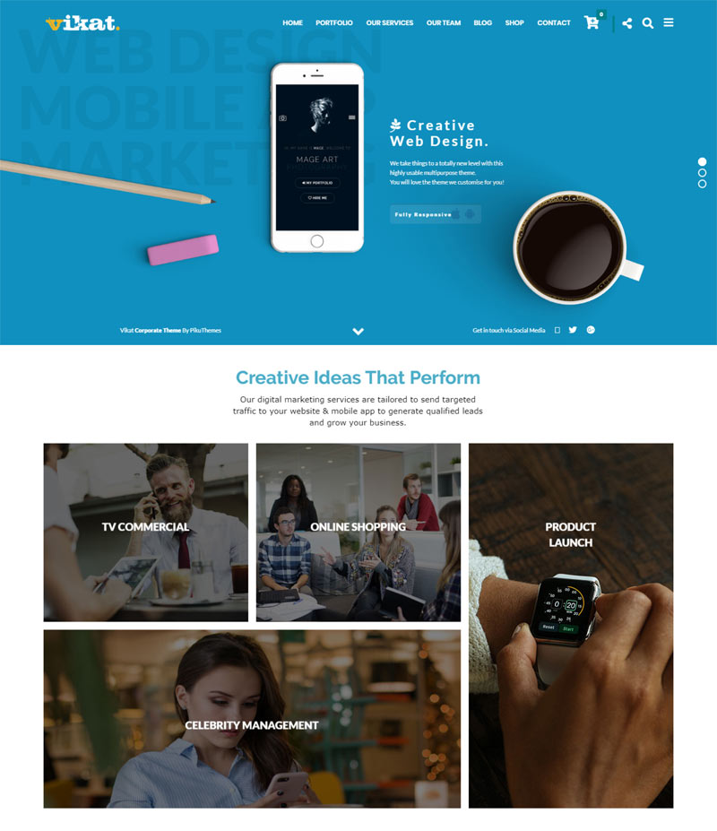 wordpress theme for corporate photography