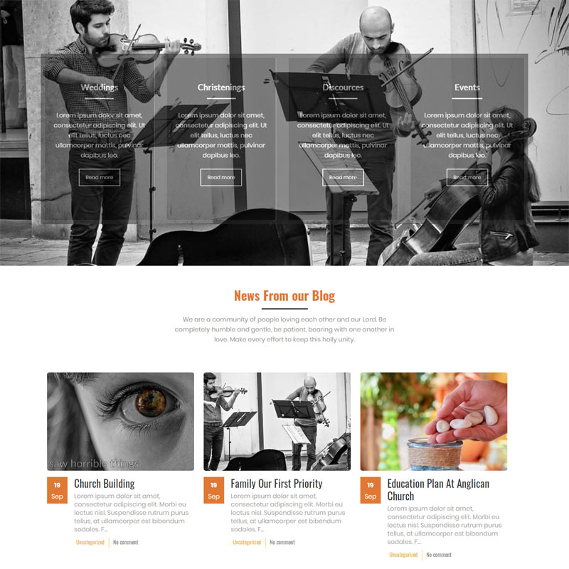 SVOJAS : Religious WordPress Theme