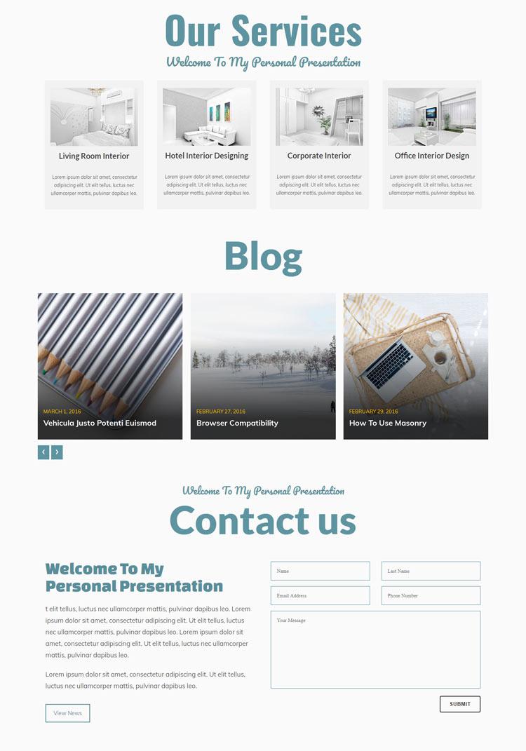 Interior Designer Responsive WordPress Theme