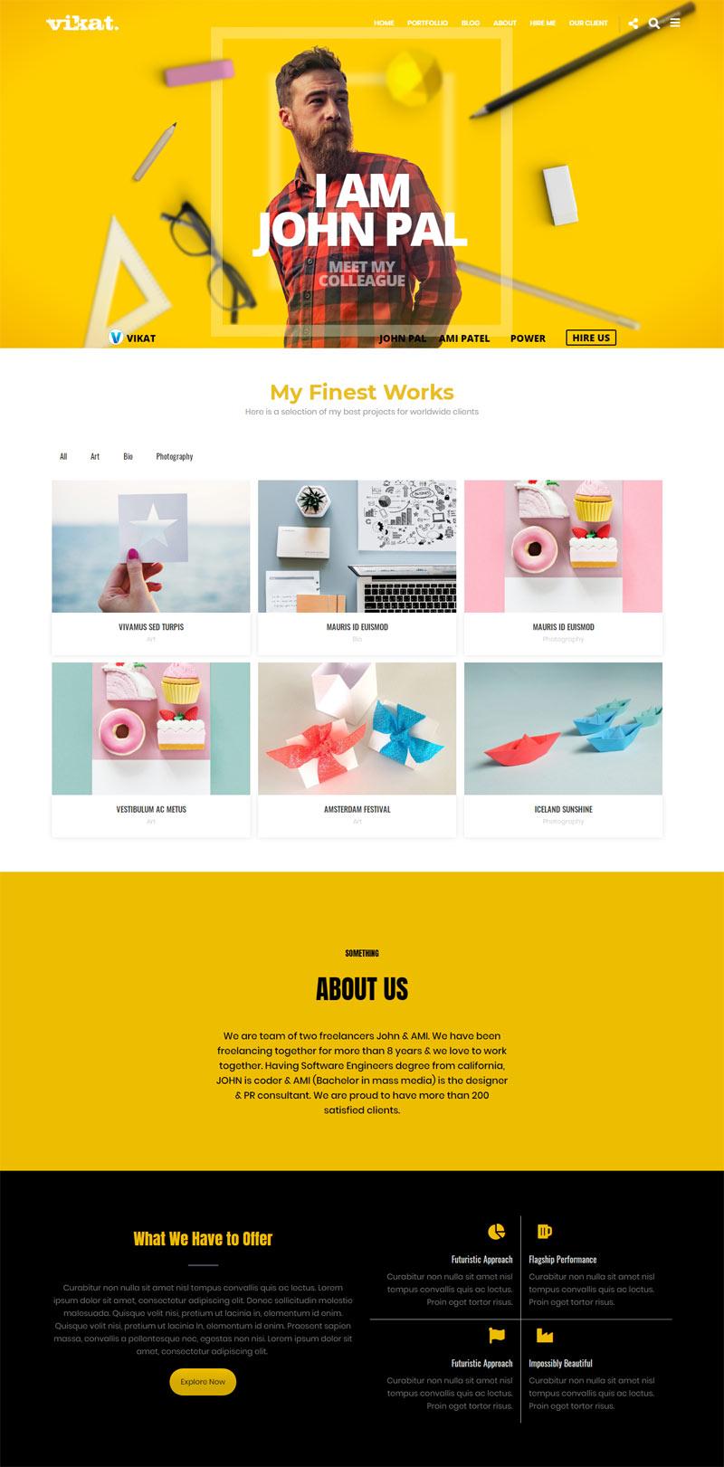 JIVAAYA : Freelancer WordPress Theme