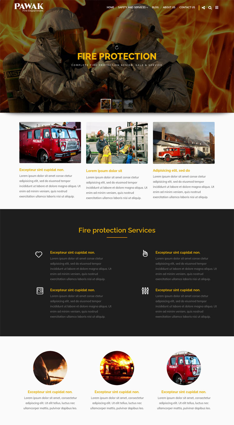 Pawak - Fire Department WordPress Theme