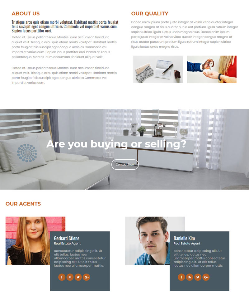 Real Estate Responsive Wordpress Theme